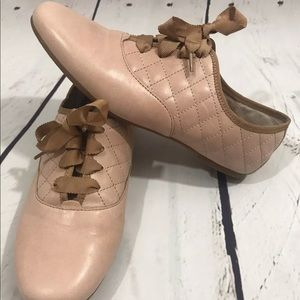 Born Quilted Ribbon lace Oxford shoes Sz 7